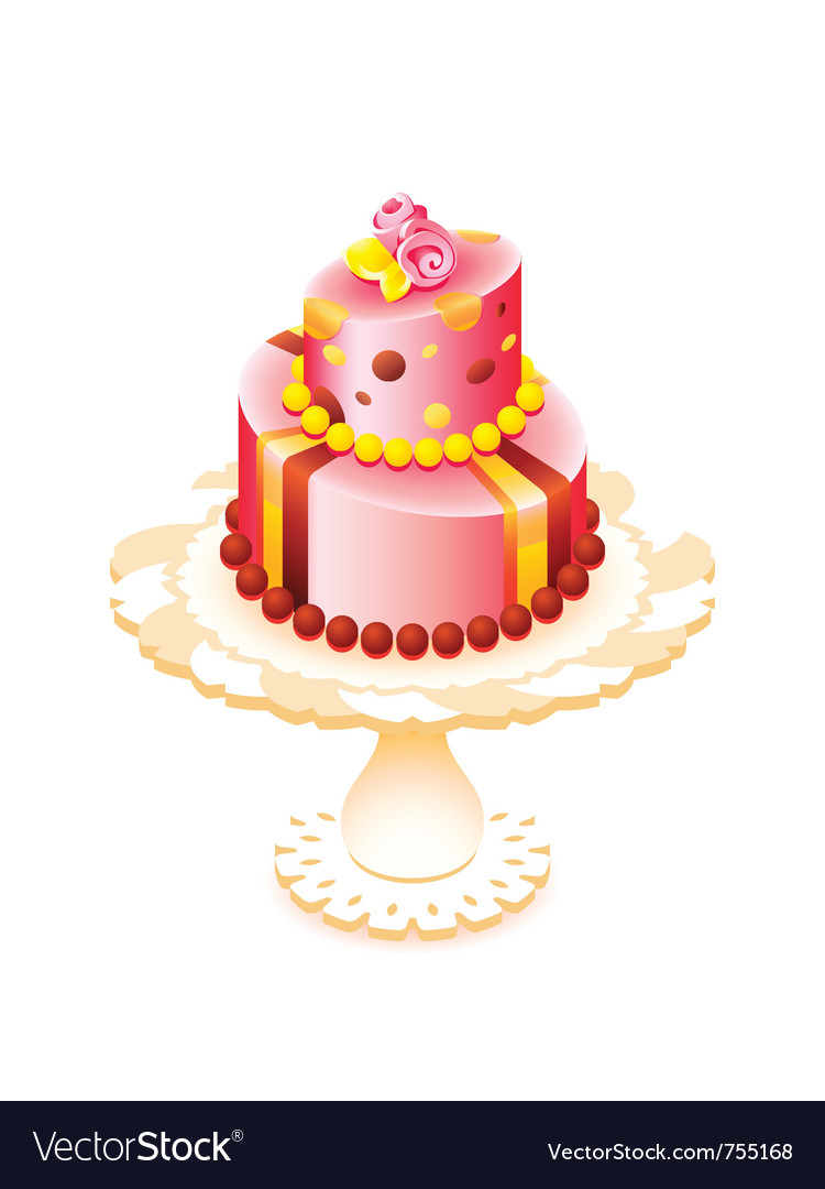 Big decorated cake vector | Price: 3 Credit (USD $3)