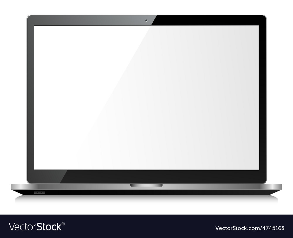 Black shiny laptop vector | Price: 1 Credit (USD $1)