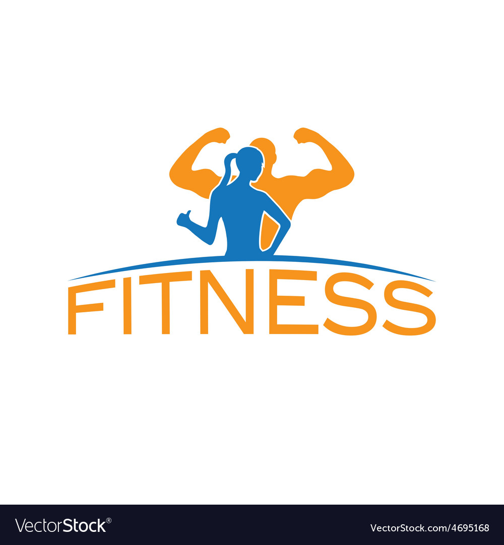 Man and woman of fitness silhouette character vector   Price: 1 Credit (USD $1)