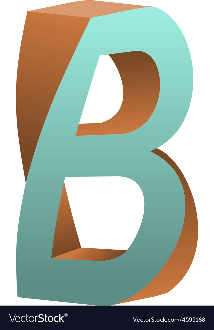 Twisted letter b logo icon design template element vector | Price: 1 Credit (USD $1)