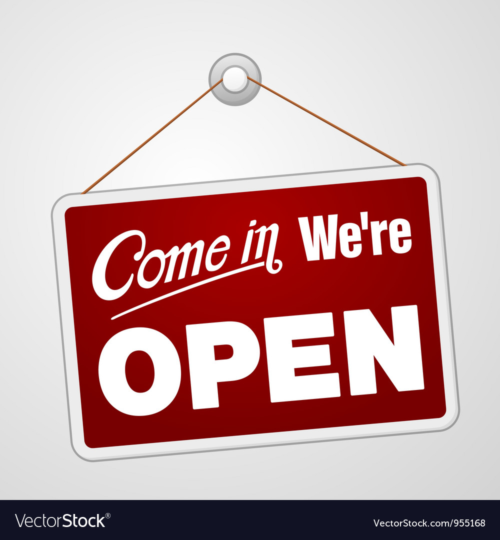 We are open sign vector | Price: 1 Credit (USD $1)