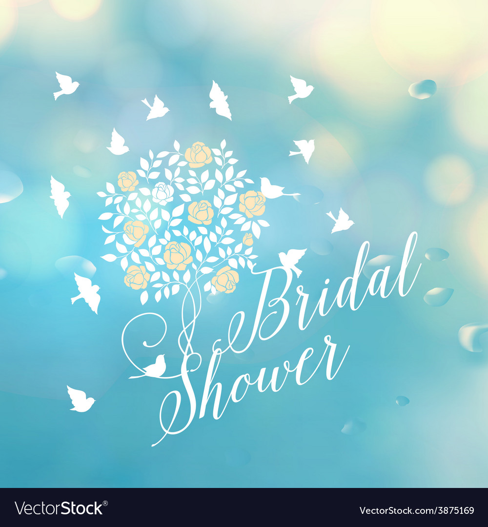 Bridal shower template vector | Price: 1 Credit (USD $1)