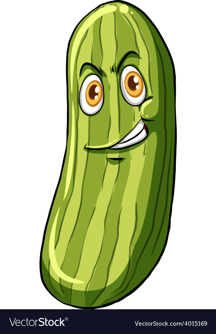 Cucumber with a face vector | Price: 3 Credit (USD $3)