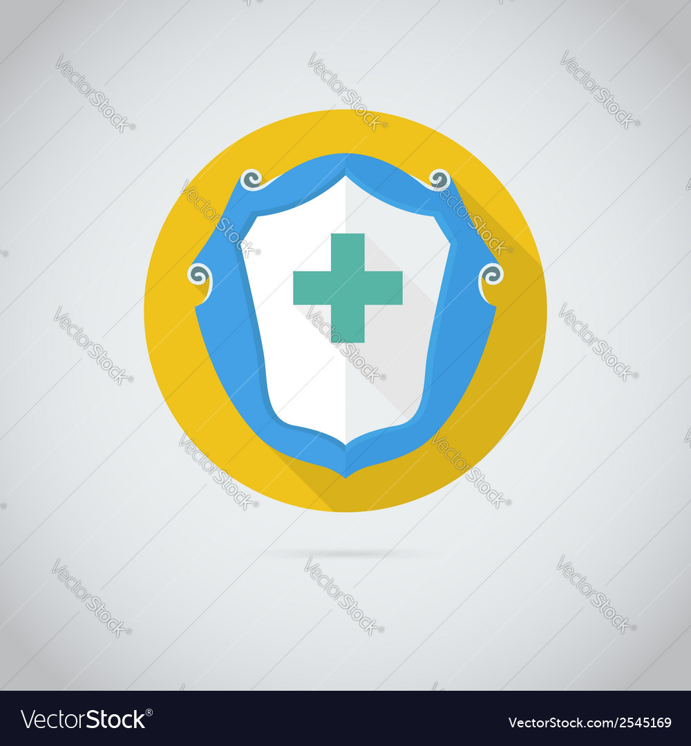 Flat icon with cross vector | Price: 1 Credit (USD $1)
