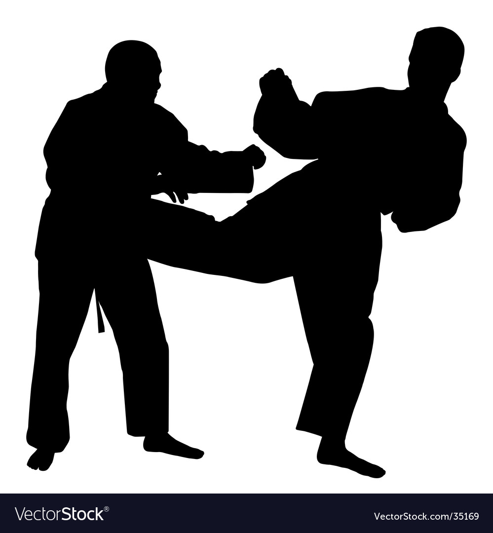 Karate fight vector | Price: 1 Credit (USD $1)