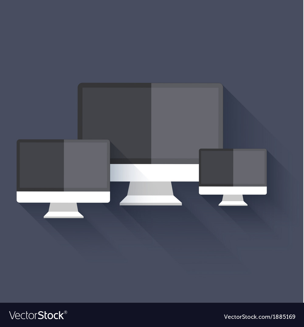 Modern flat technology background eps 10 vector | Price: 1 Credit (USD $1)