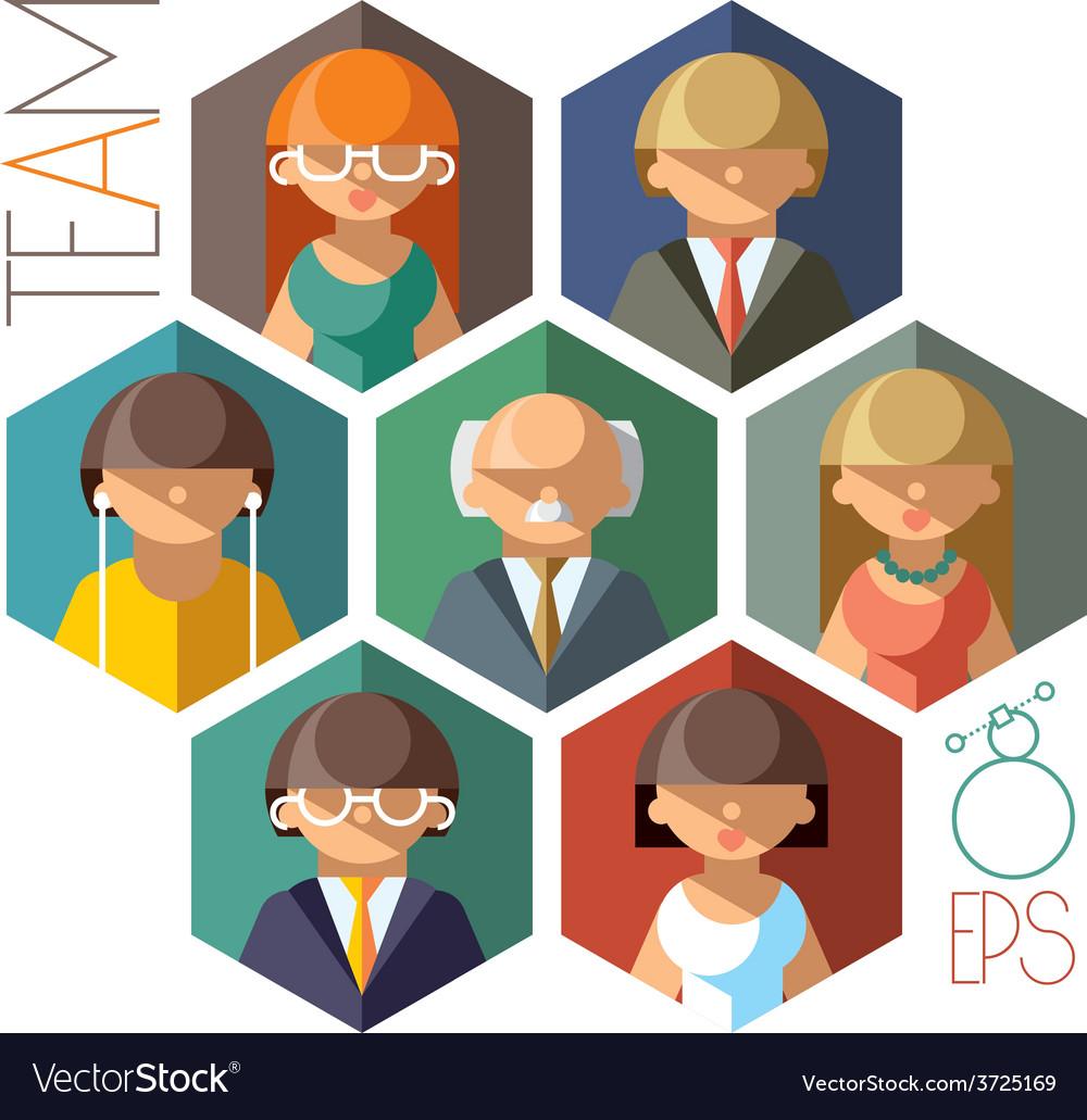 Office team vector | Price: 1 Credit (USD $1)