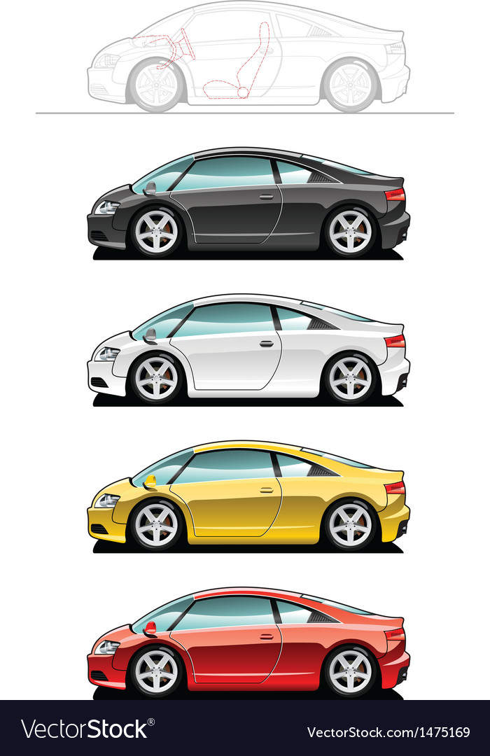 Sportscar vector | Price: 1 Credit (USD $1)