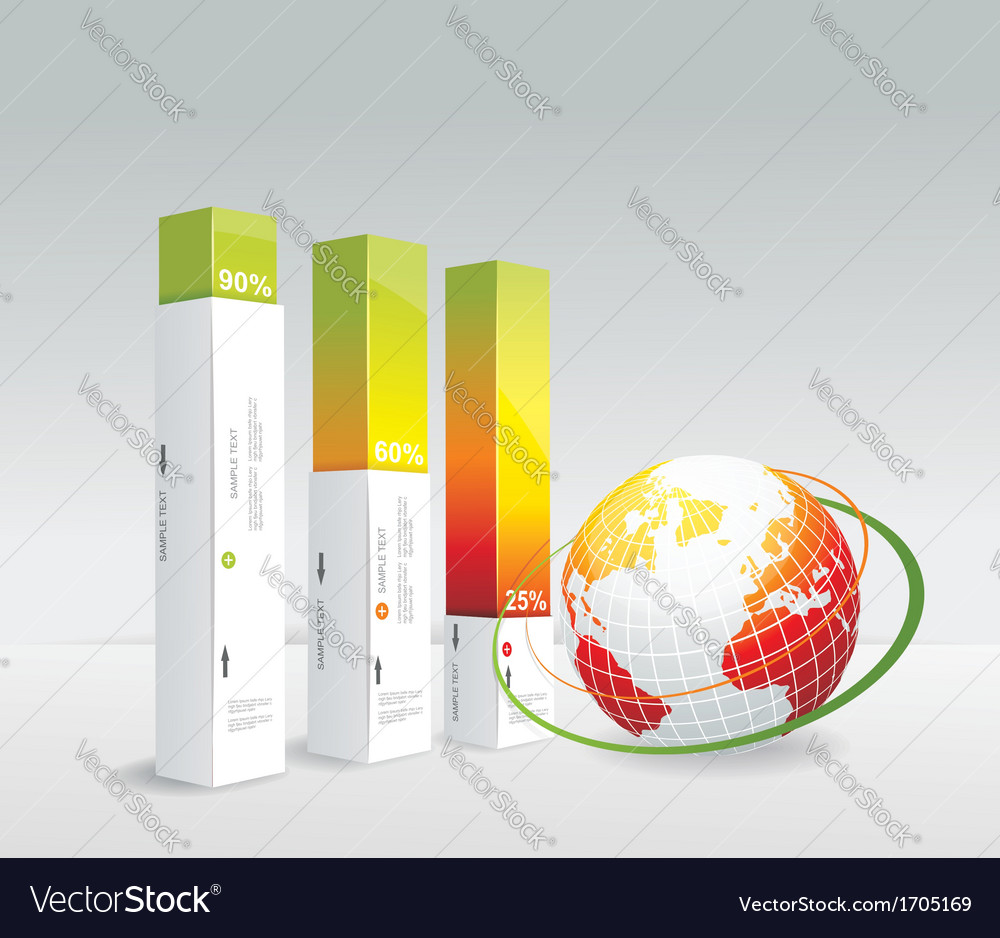 Travel infographic set with globe vector | Price: 1 Credit (USD $1)