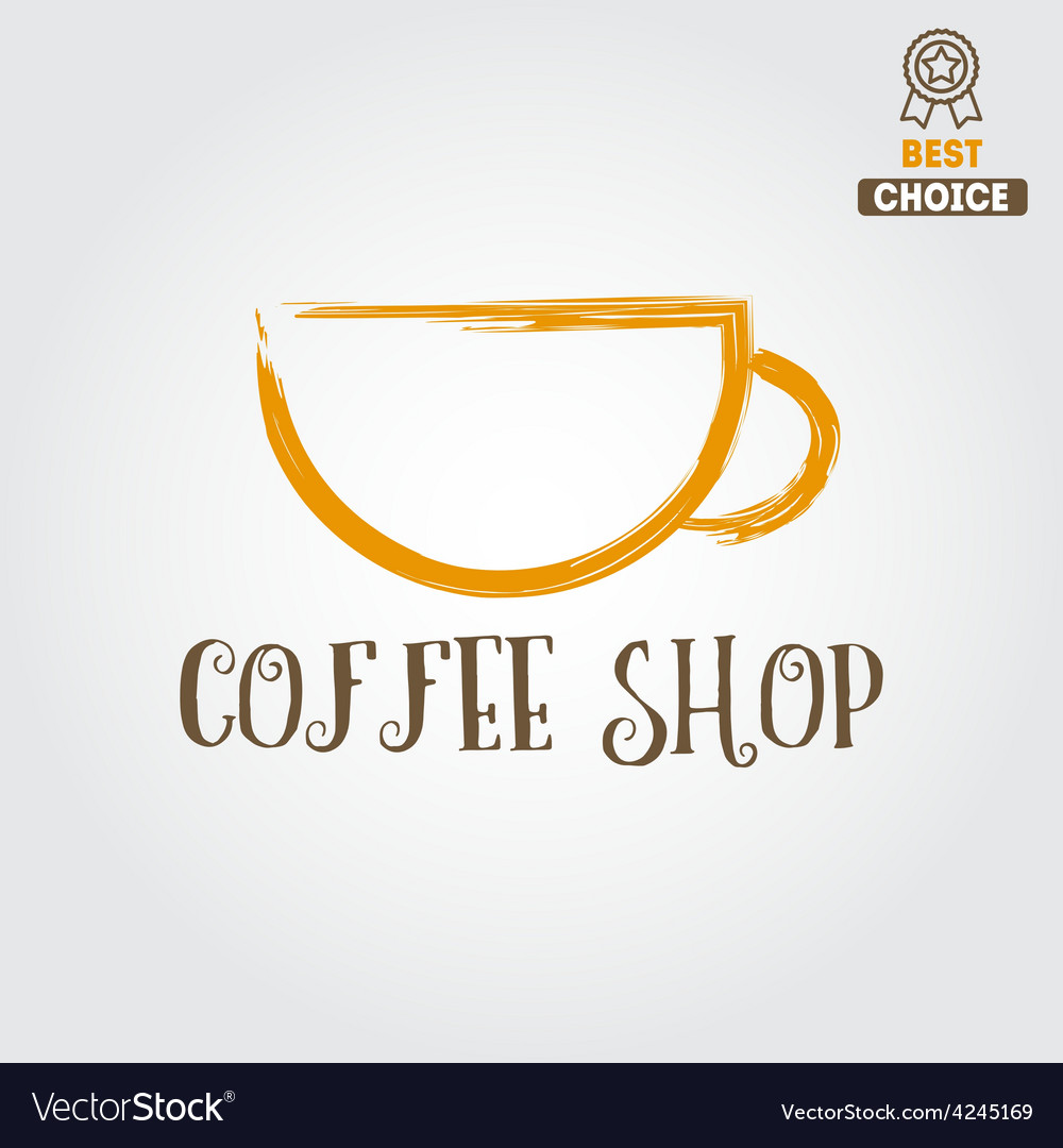 Vintage logo for coffee shop cafe and restaurant vector | Price: 1 Credit (USD $1)