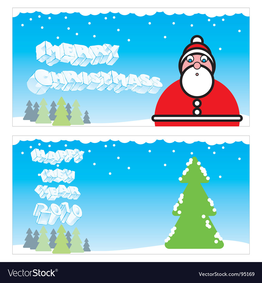 Winter holiday cards vector | Price: 1 Credit (USD $1)