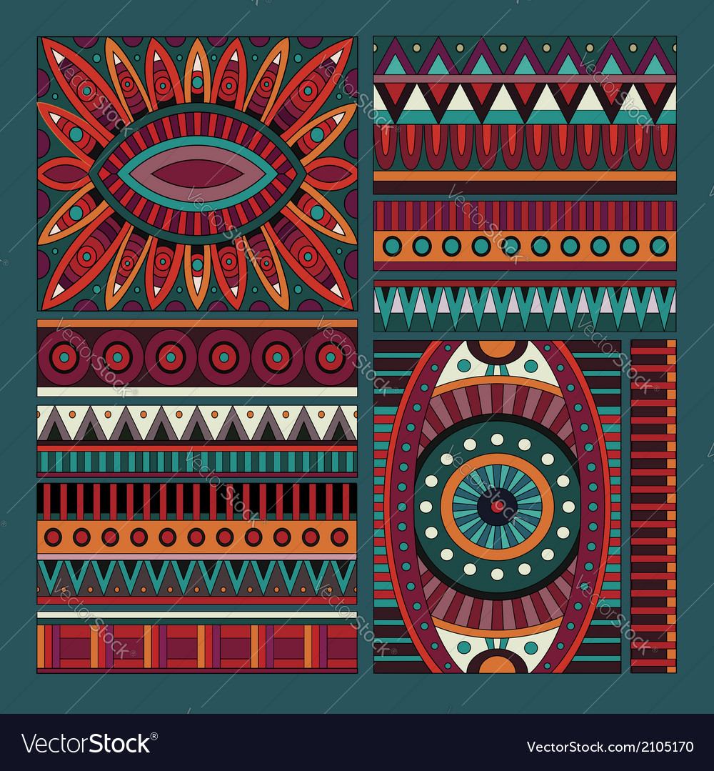 Abstract tribal ethnic design elements vector | Price: 1 Credit (USD $1)