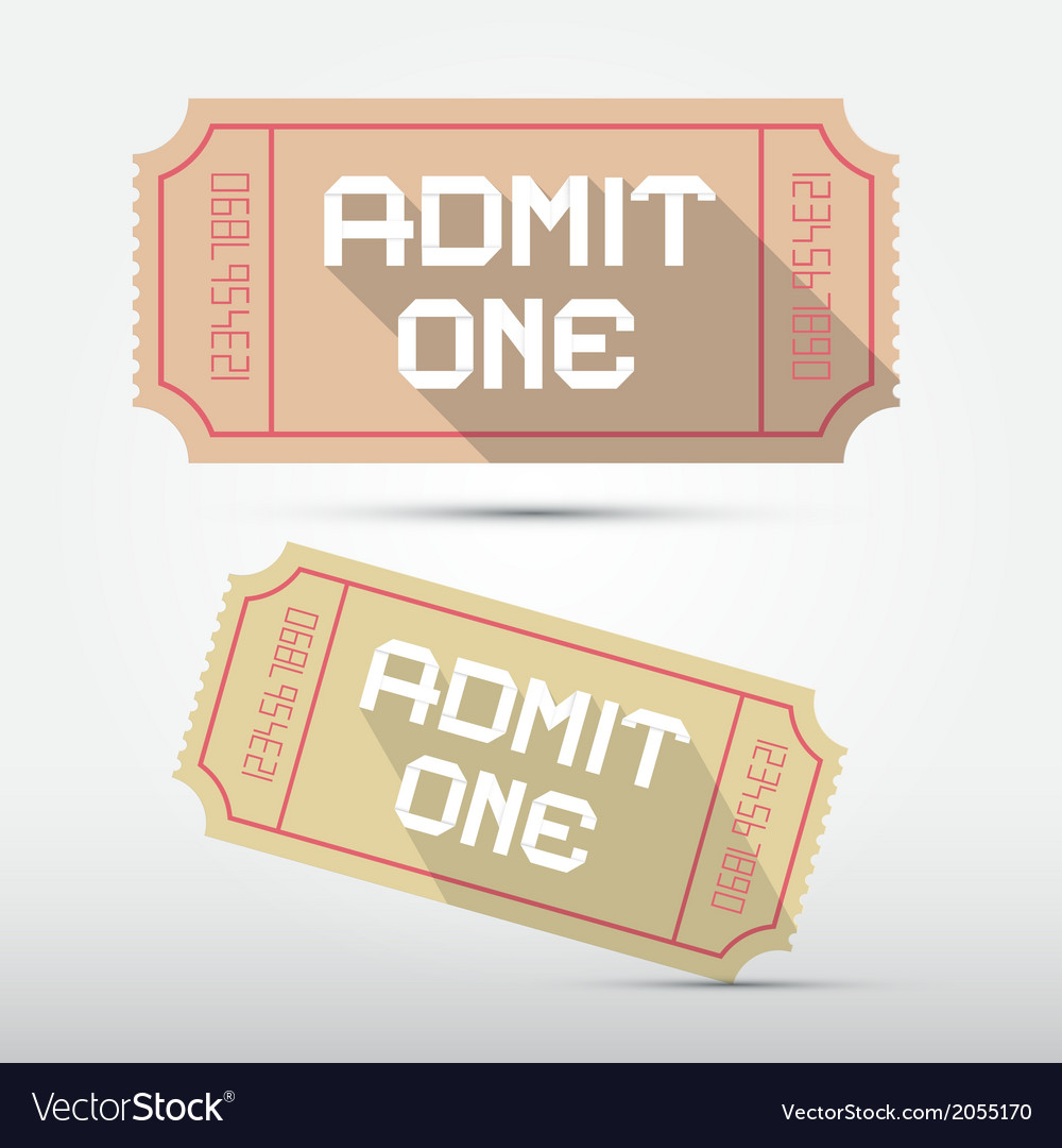 Admit one ticket vector | Price: 1 Credit (USD $1)