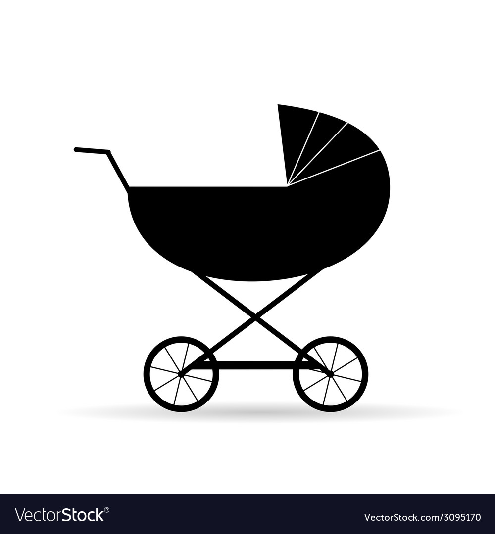 Black baby carriage vector | Price: 1 Credit (USD $1)