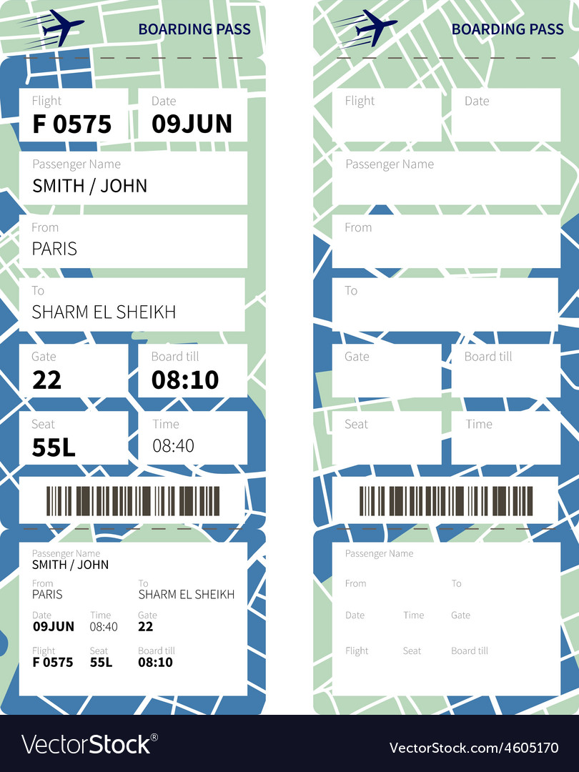 Boarding pass vector | Price: 1 Credit (USD $1)