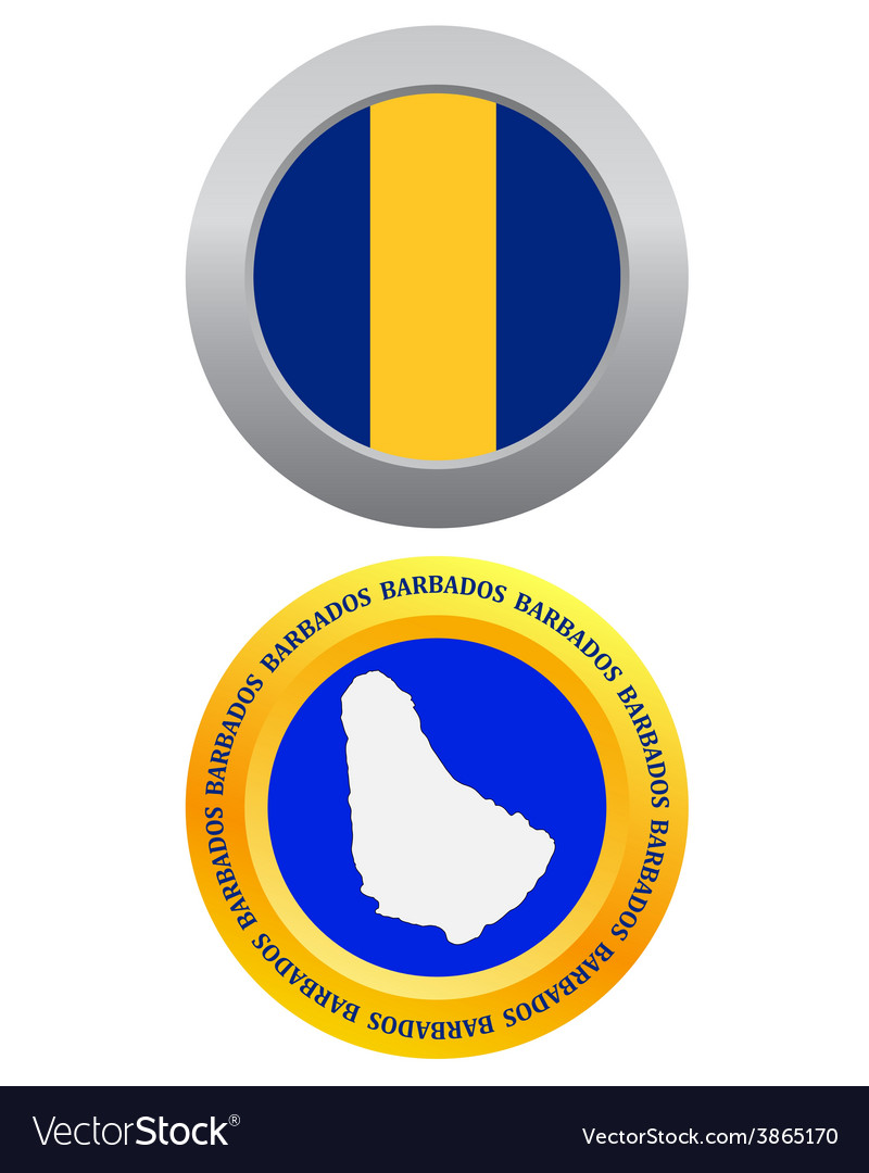 Button as a symbol barbados vector | Price: 1 Credit (USD $1)