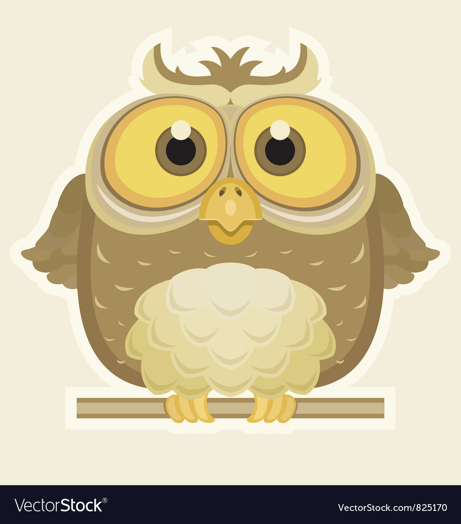 Cartoon owl vector | Price: 3 Credit (USD $3)