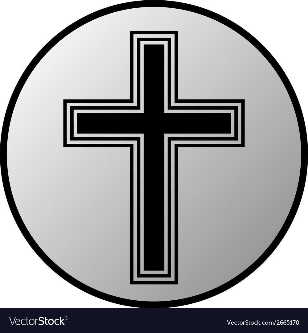 Cross button vector | Price: 1 Credit (USD $1)