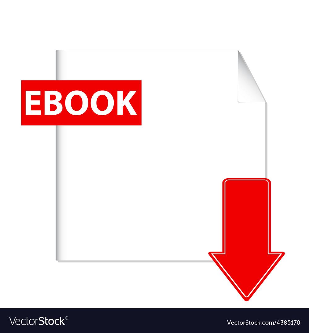E-book download icon vector   Price: 1 Credit (USD $1)
