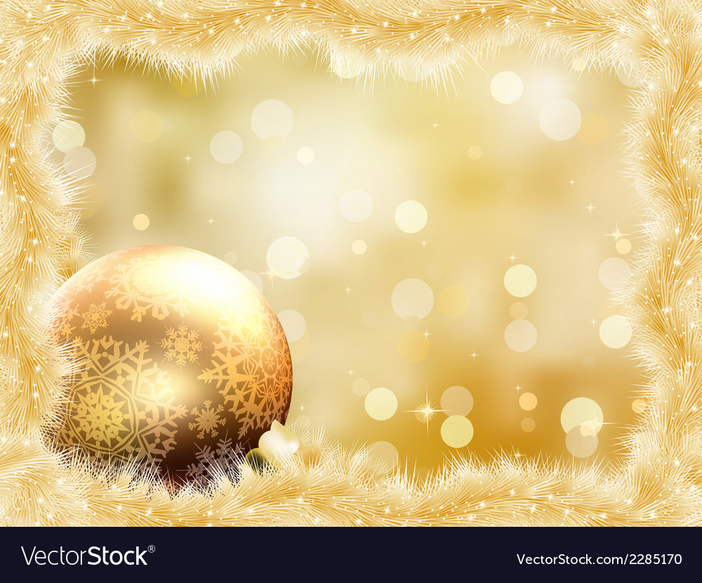 Gold christmas card with copy sace eps 8 vector | Price: 1 Credit (USD $1)