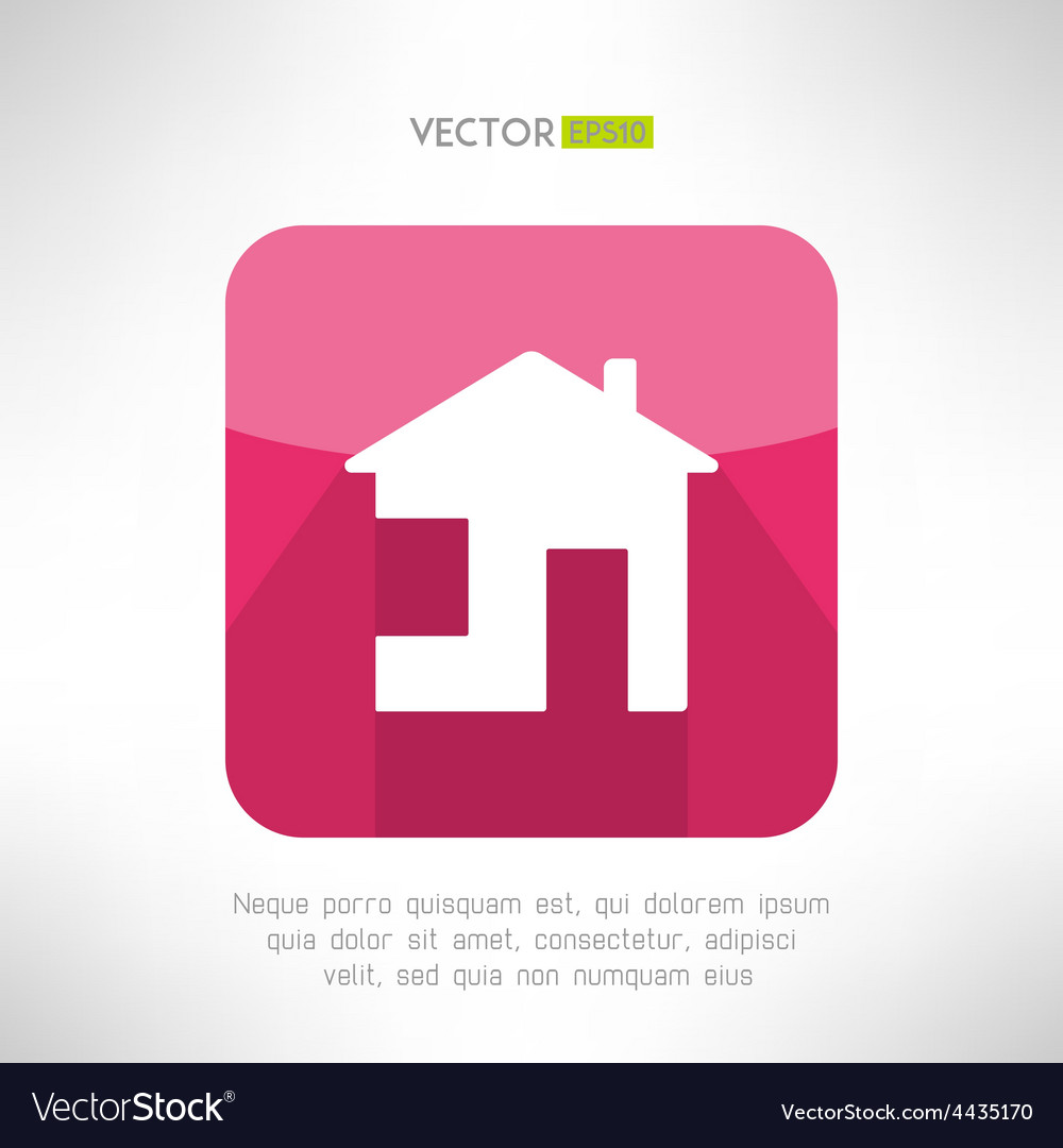 House icon made in modern clean and simple flat vector | Price: 1 Credit (USD $1)