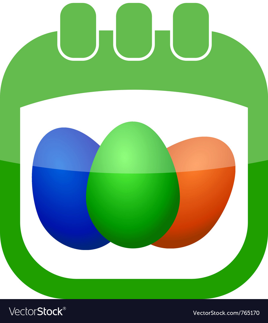 Icon easter calendar vector | Price: 1 Credit (USD $1)
