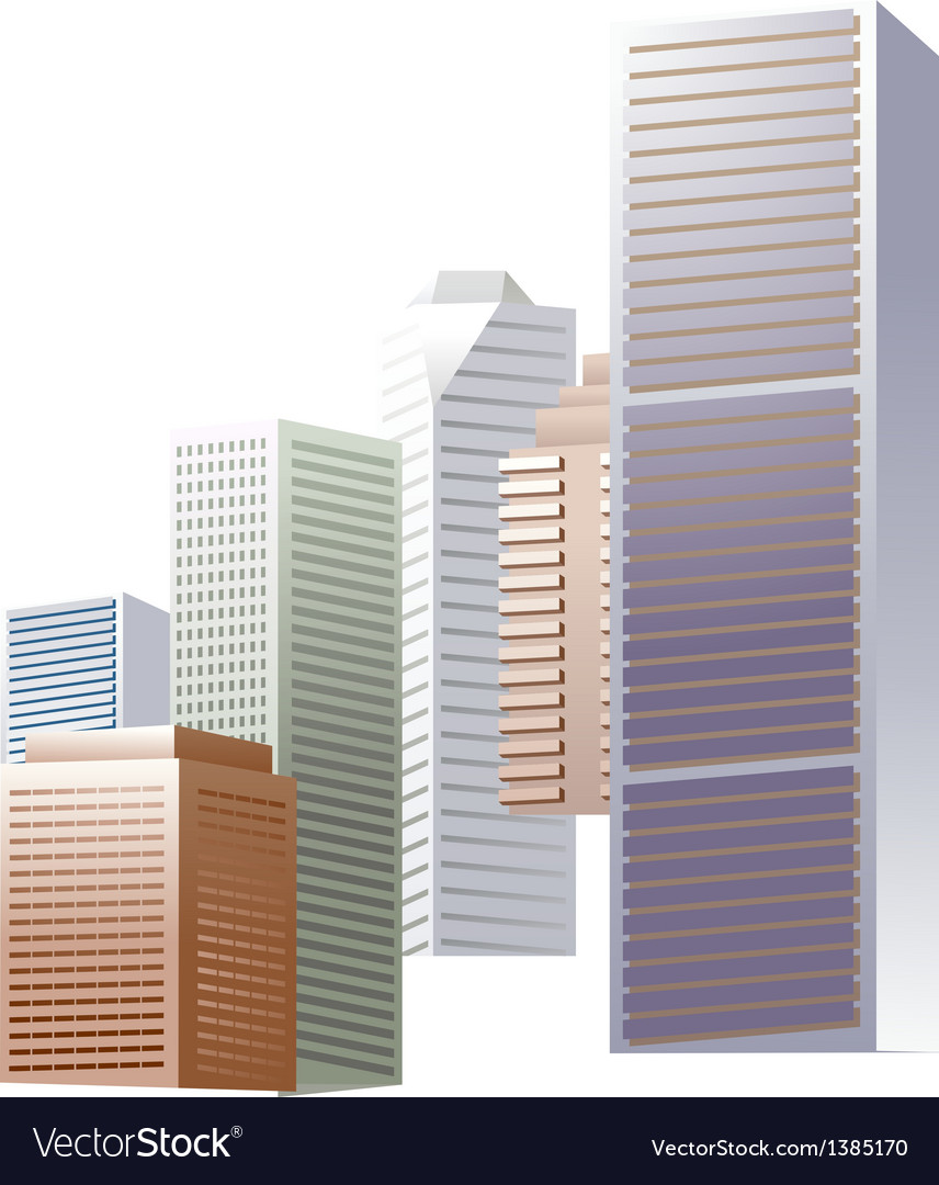 Icon skyscraper vector | Price: 1 Credit (USD $1)
