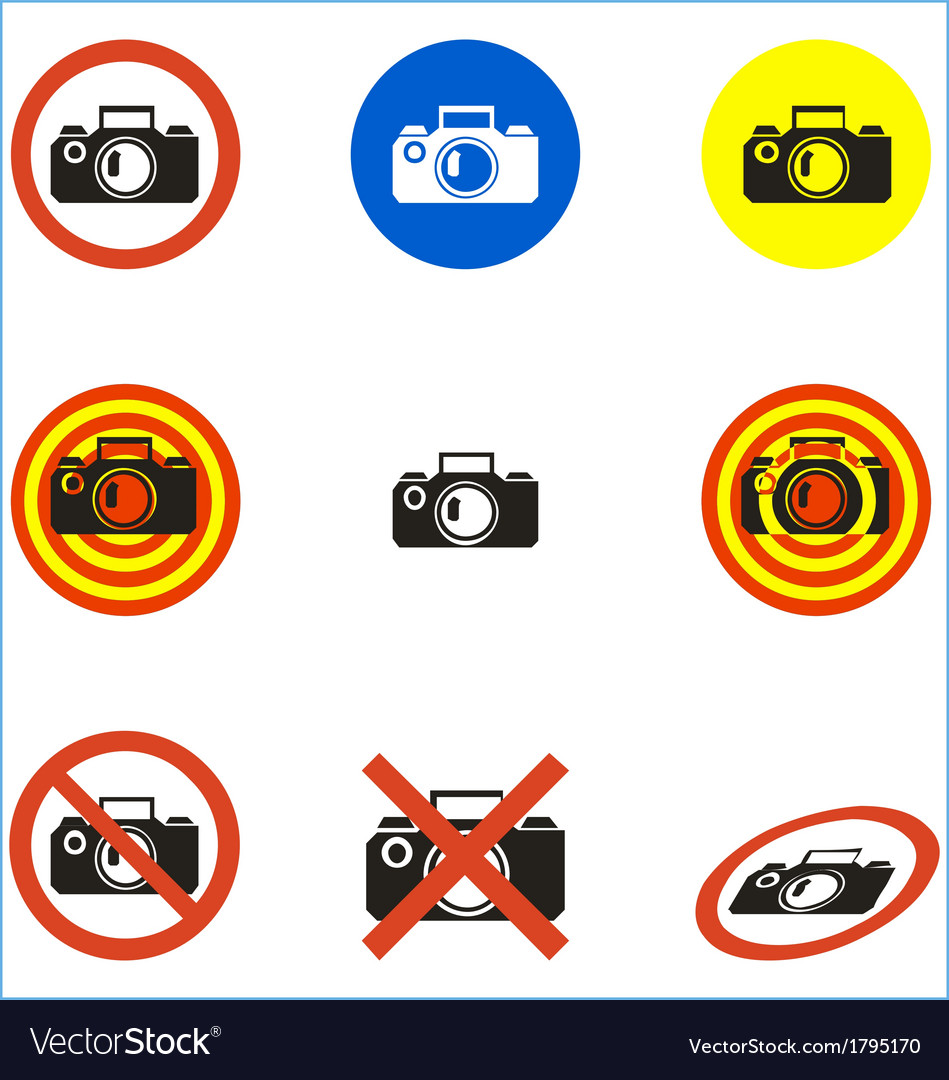 No photo icons set vector | Price: 1 Credit (USD $1)