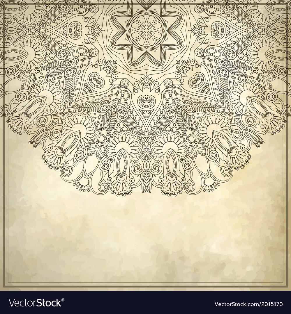 Ornamental floral pattern with place for your text vector | Price: 1 Credit (USD $1)