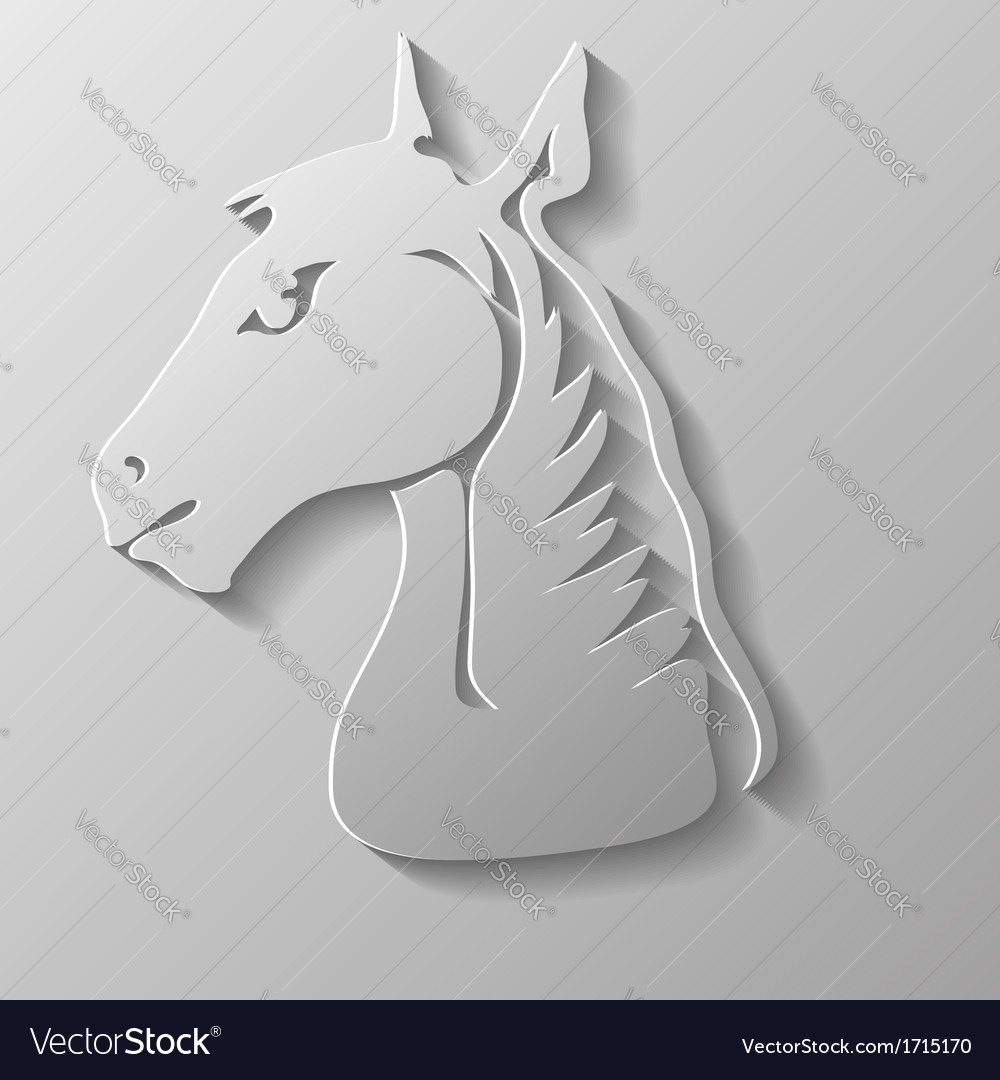 Paper horse head vector | Price: 1 Credit (USD $1)