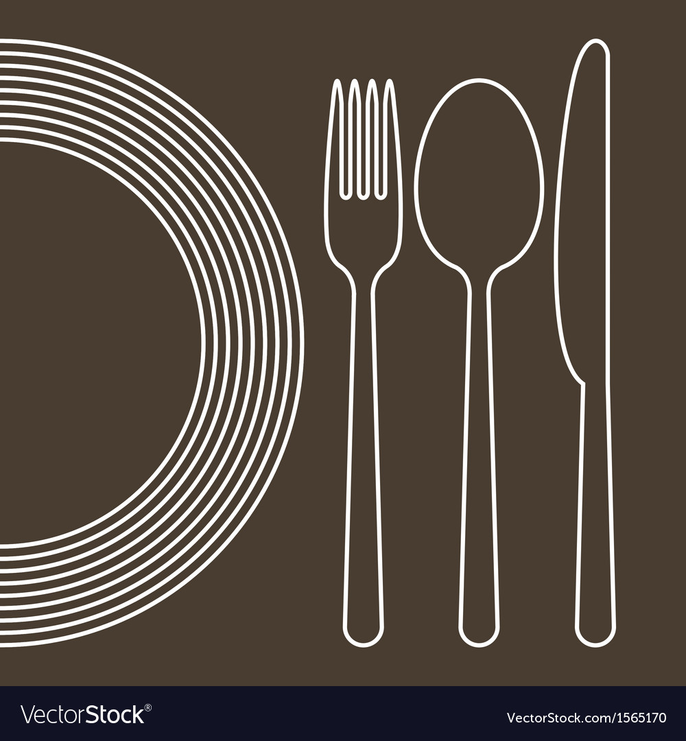 Plate knife spoon and fork vector | Price: 1 Credit (USD $1)