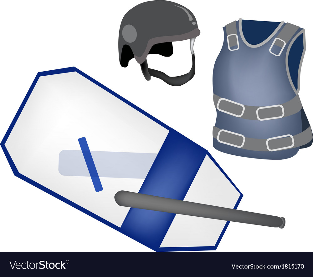 Police equipment and police uniform vector   Price: 1 Credit (USD $1)