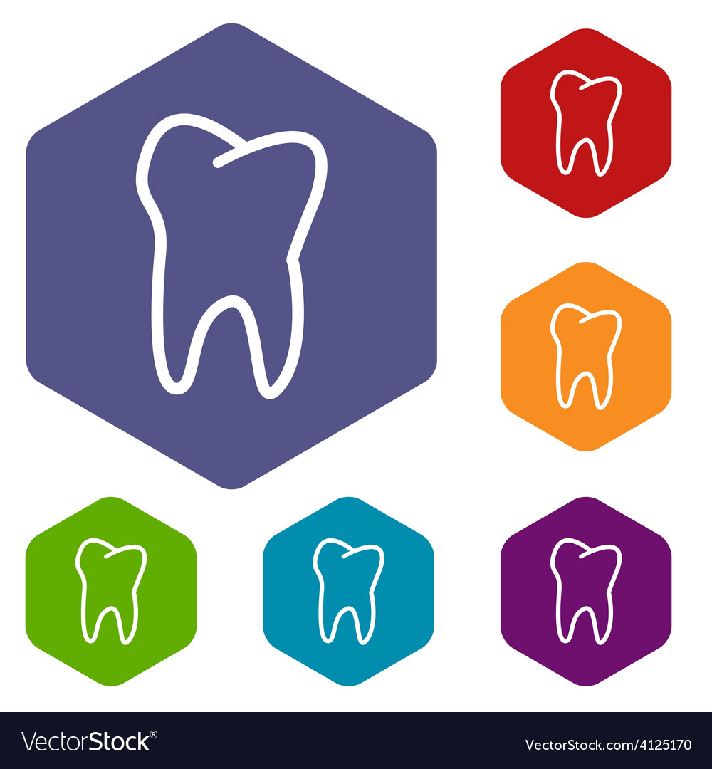 Tooth rhombus icons vector | Price: 1 Credit (USD $1)