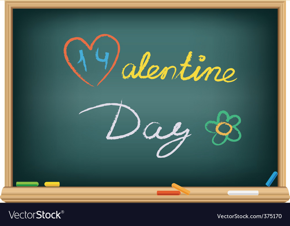 Valentine's chalk vector | Price: 1 Credit (USD $1)