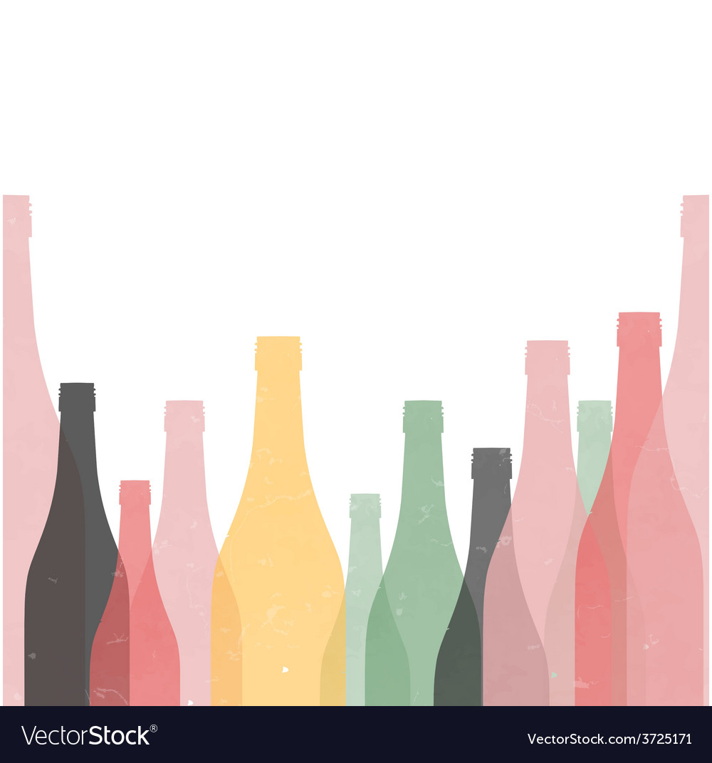 Bottle retro poster seamless vector