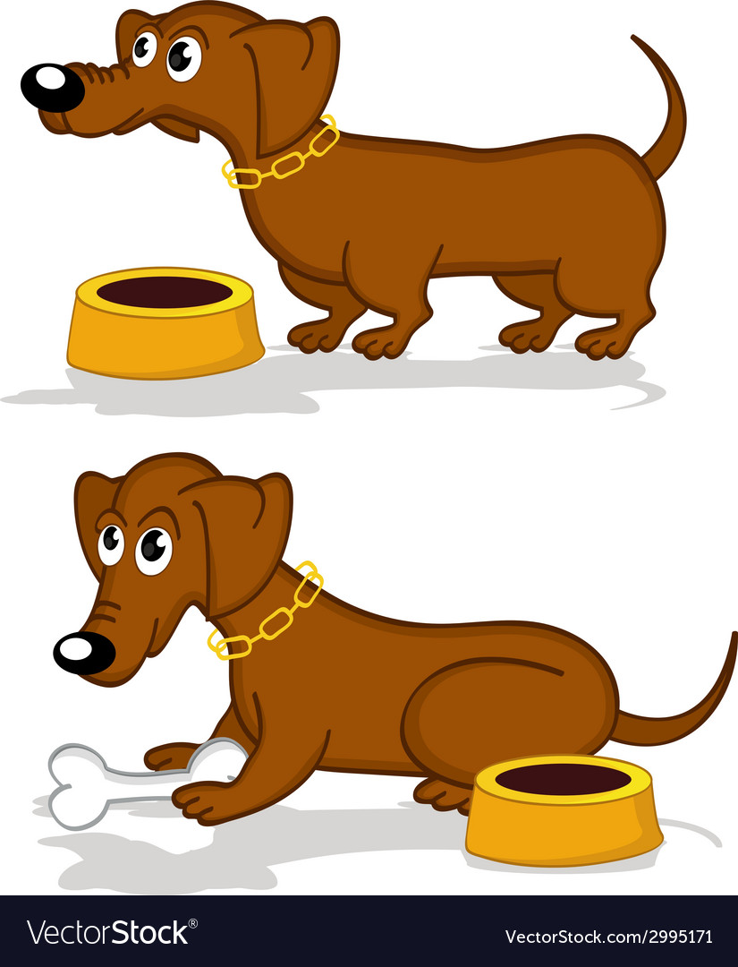 Dachshund in action vector | Price: 1 Credit (USD $1)