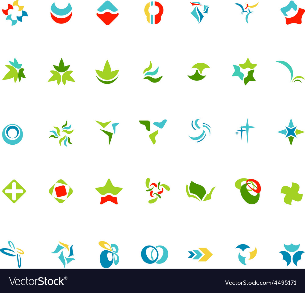 Different abstract trendy symbols vector | Price: 1 Credit (USD $1)