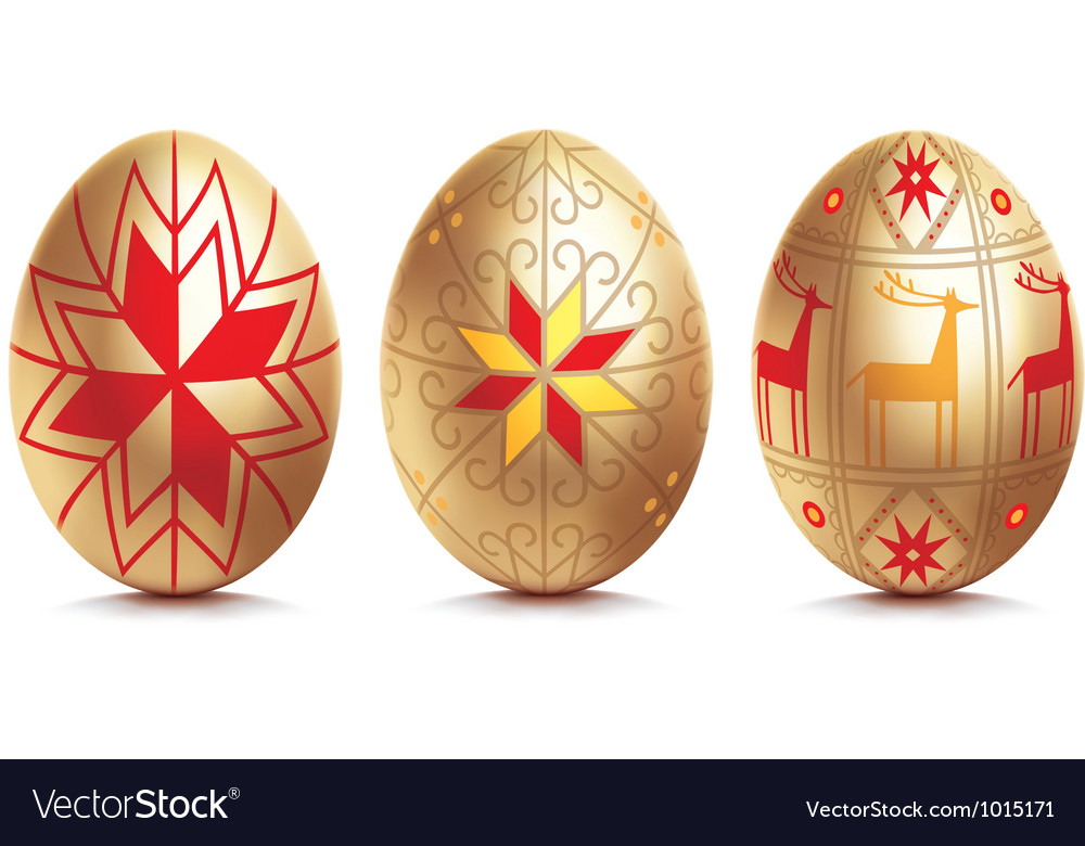 Easter golden egg vector | Price: 1 Credit (USD $1)
