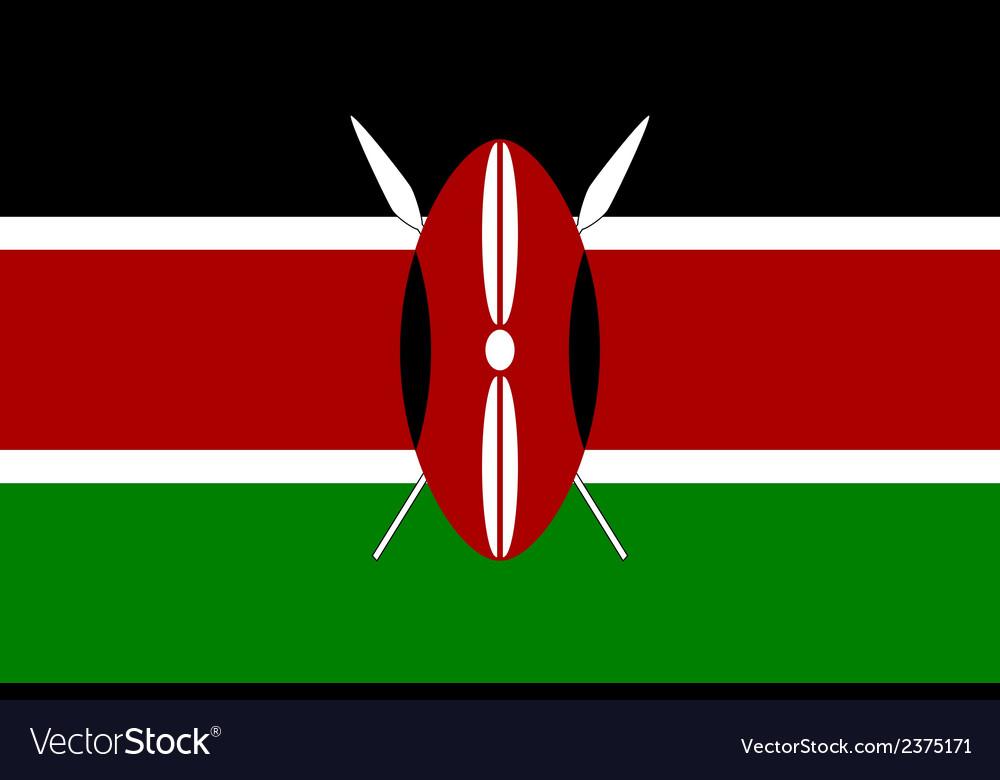 Flag of kenya vector | Price: 1 Credit (USD $1)