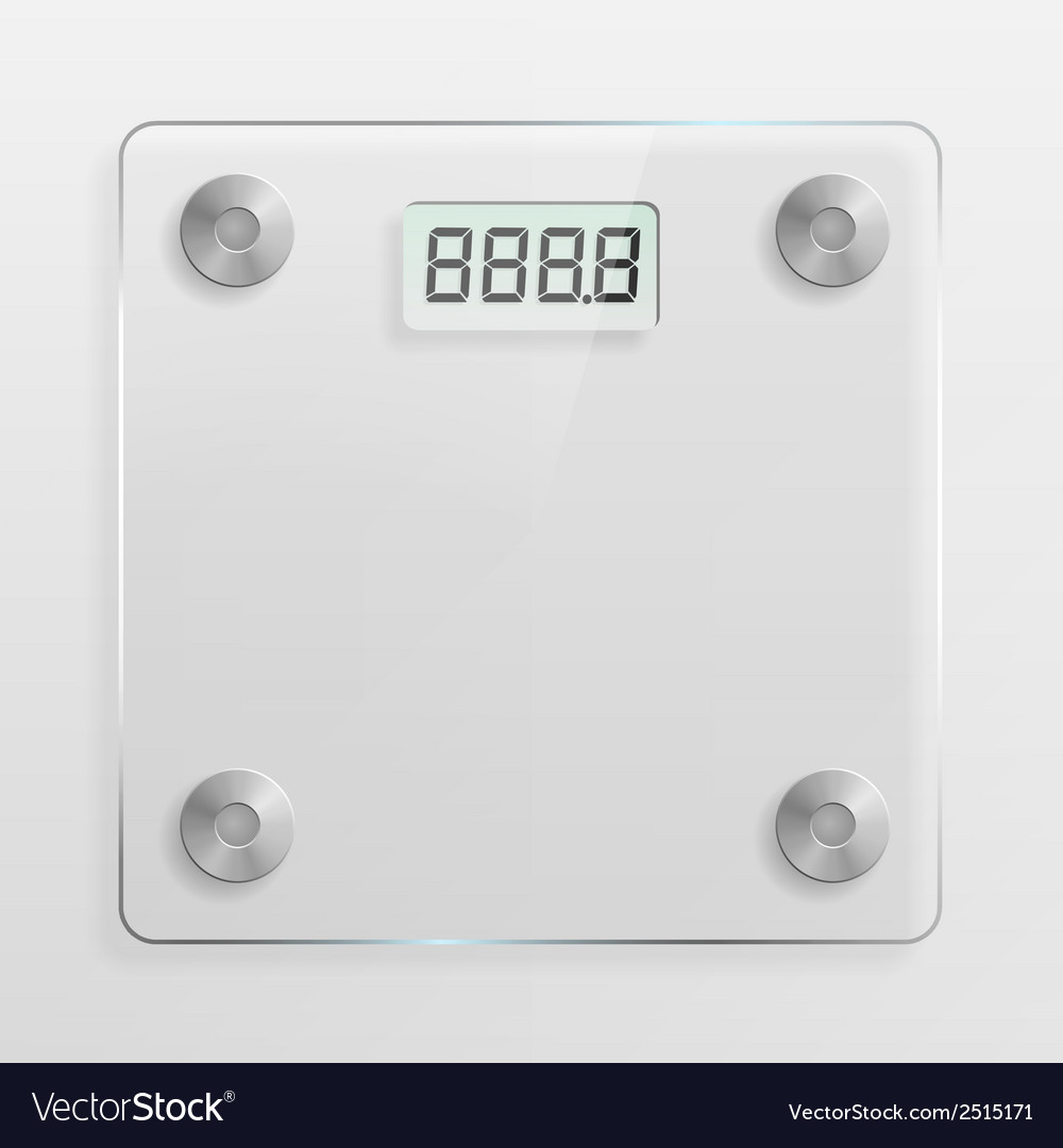 Glass bathroom scale vector