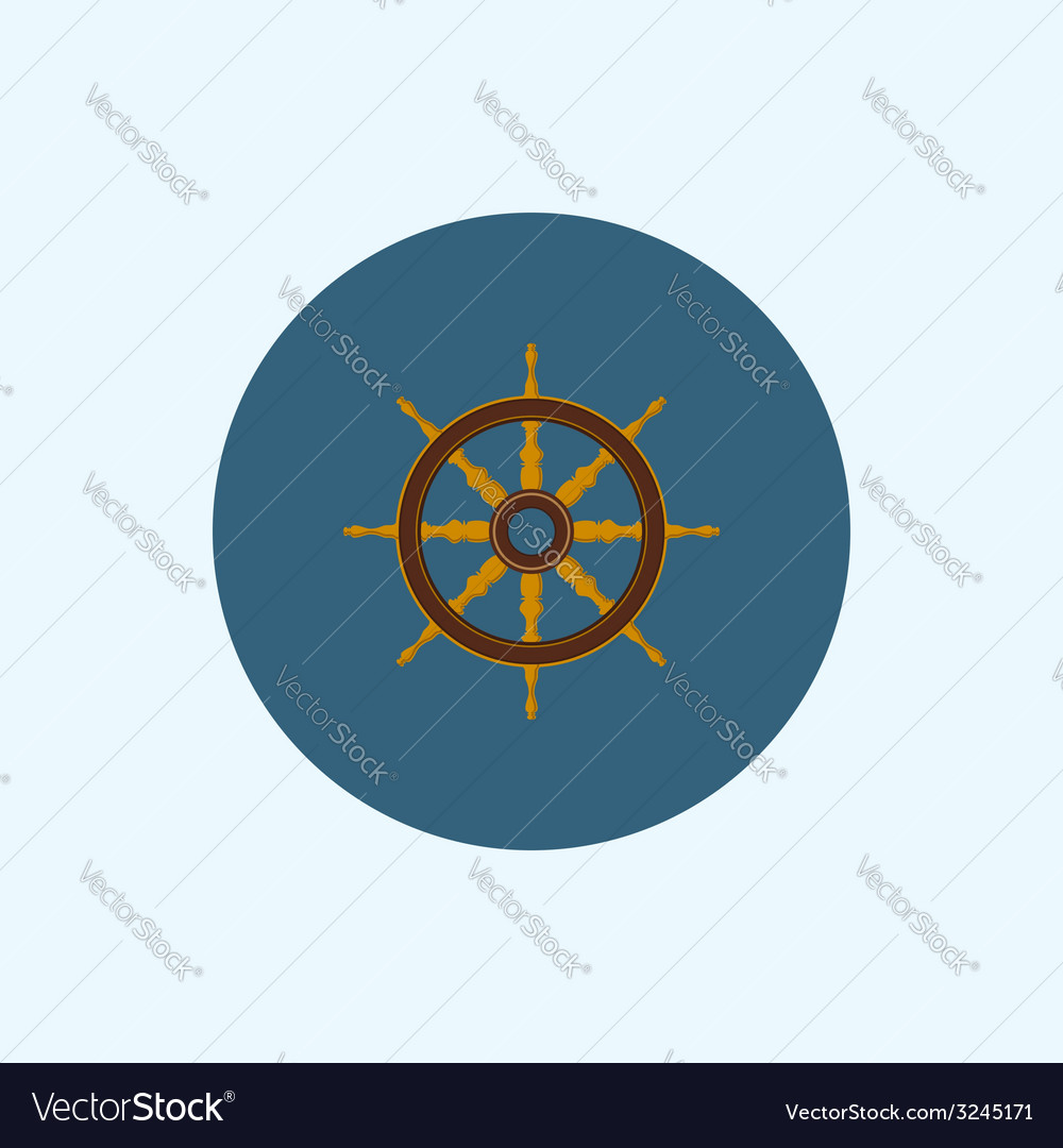 Icon with colored ship wheel vector | Price: 1 Credit (USD $1)