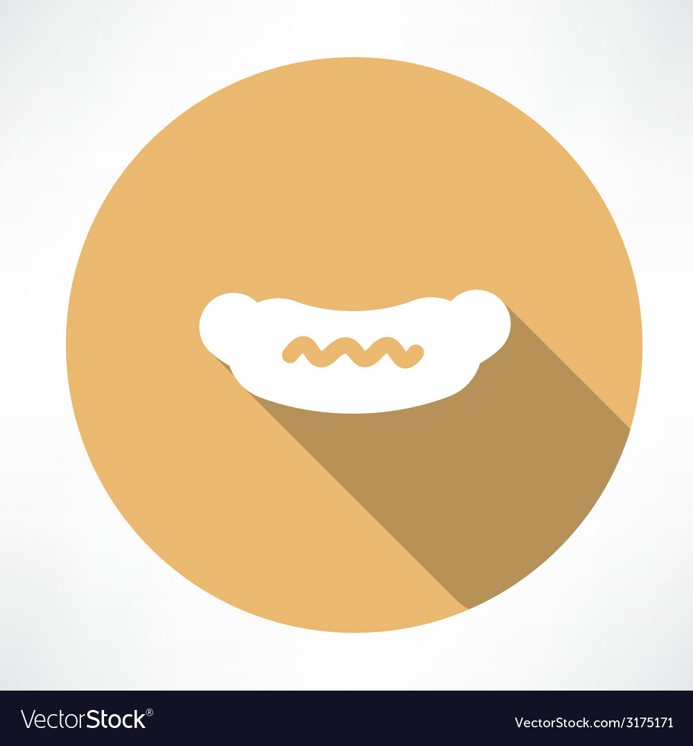 Sausage with mustard icon vector | Price: 1 Credit (USD $1)