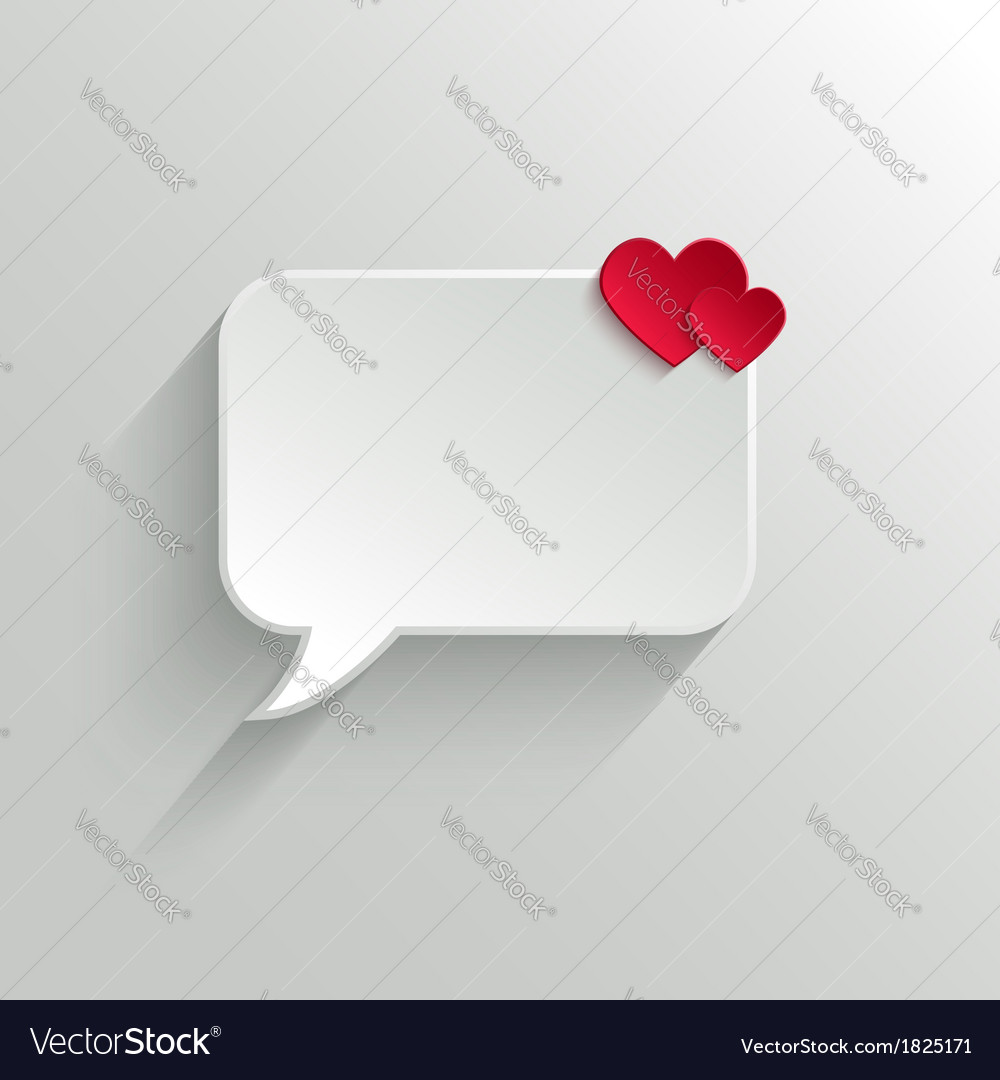 Speech bubble valentines day backround vector | Price: 1 Credit (USD $1)