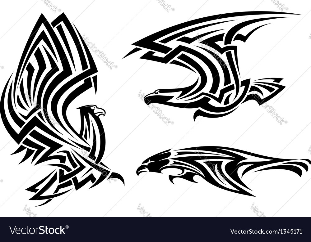 Tribal eagle hawk and falcon vector | Price: 1 Credit (USD $1)