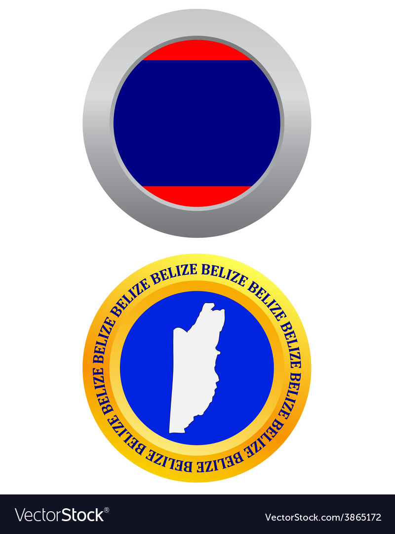 Button as a symbol belize vector | Price: 1 Credit (USD $1)