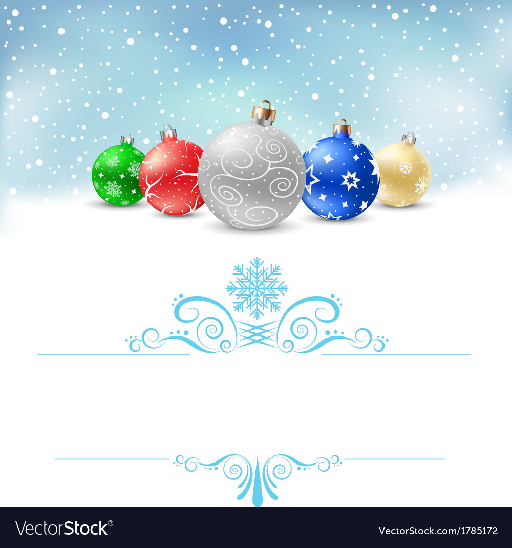 Christmas balls snow pattern380 vector | Price: 1 Credit (USD $1)