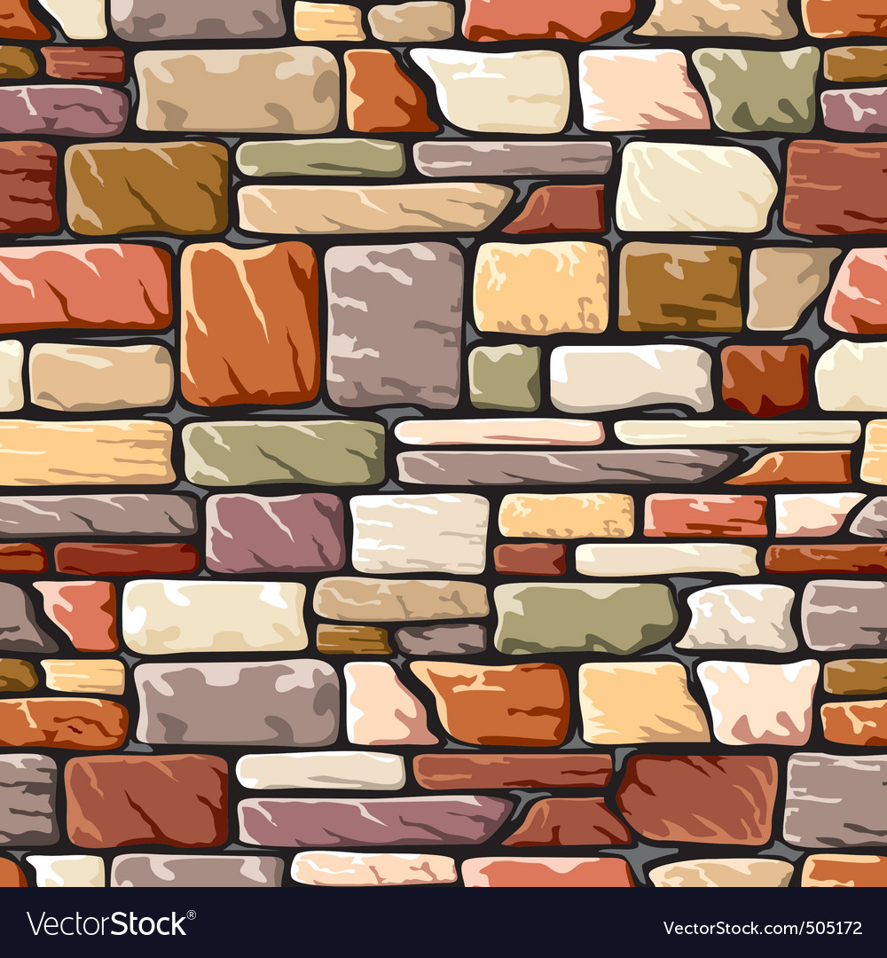 Color stone wall vector | Price: 1 Credit (USD $1)