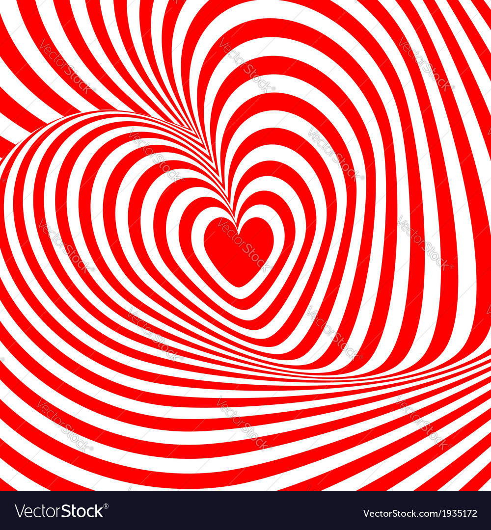 Design heart swirl rotation background vector | Price: 1 Credit (USD $1)