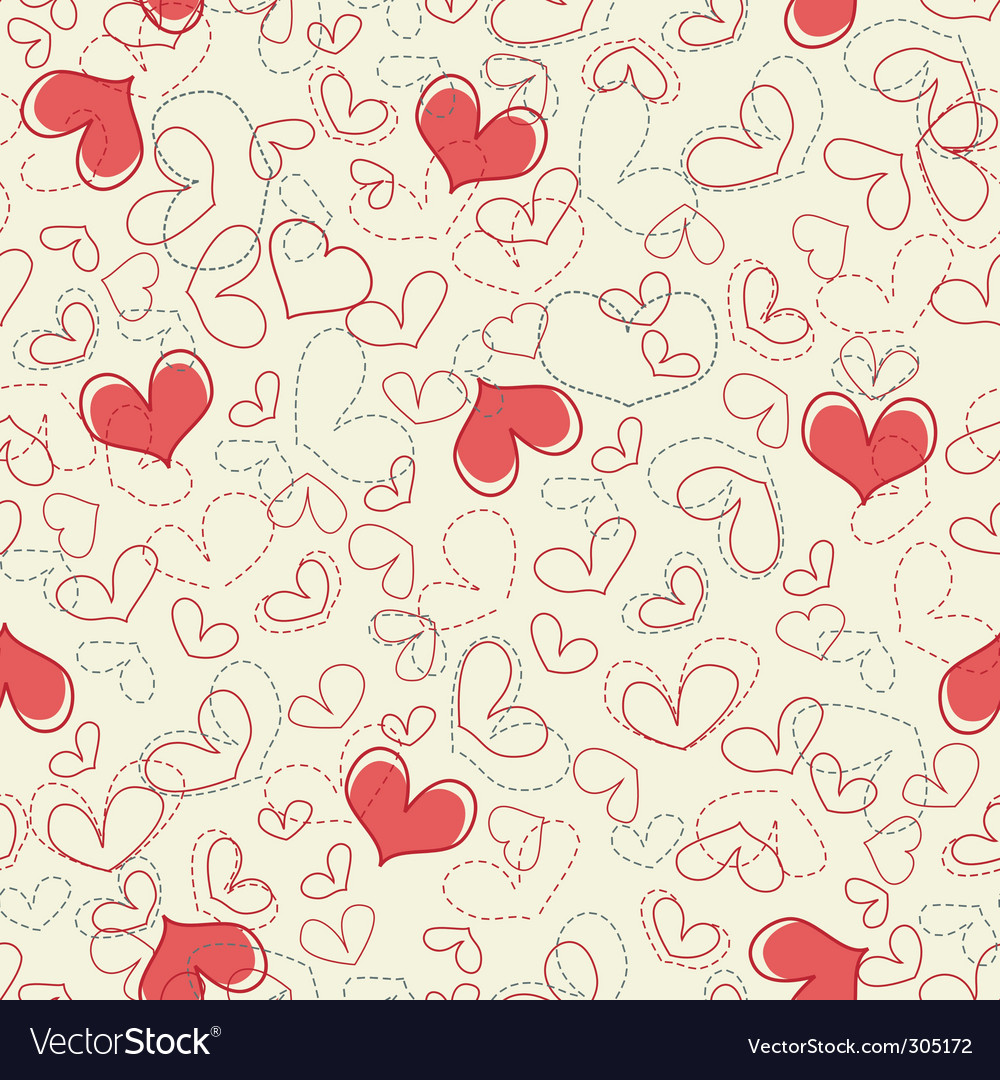 Hearts seamless background vector | Price: 1 Credit (USD $1)