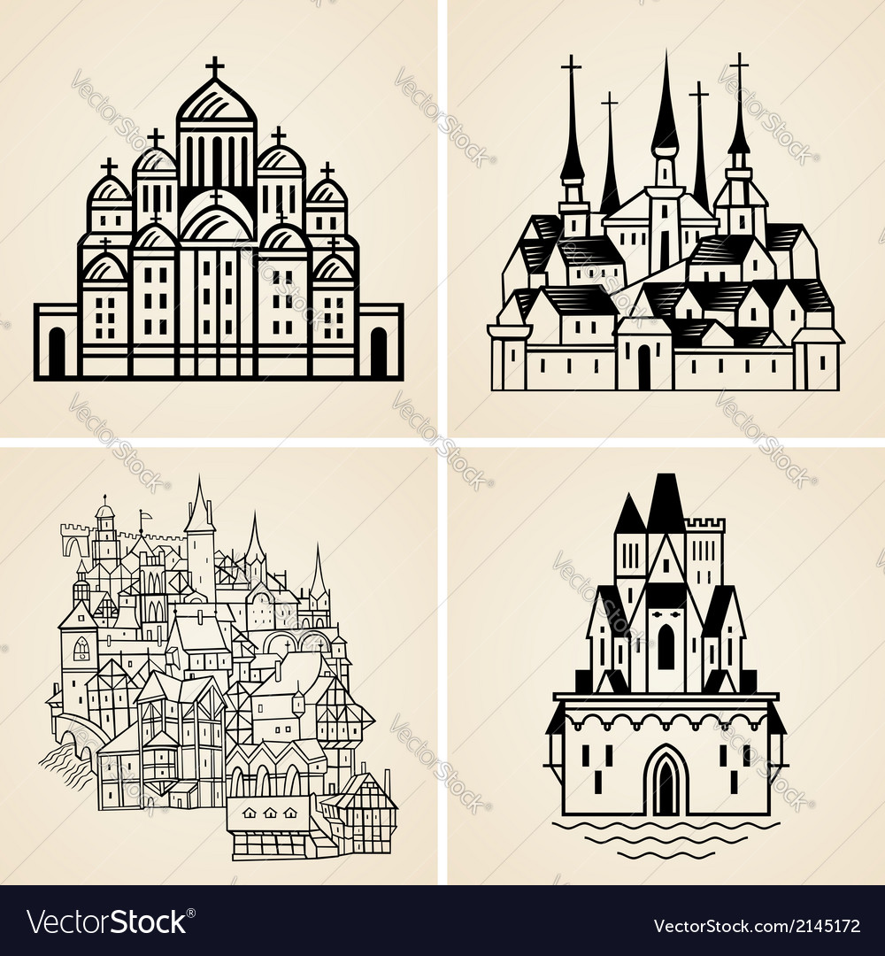 Old cities vector | Price: 1 Credit (USD $1)